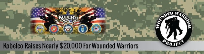 Kobelco Raises Nearly $20,000 for Wounded Warriors