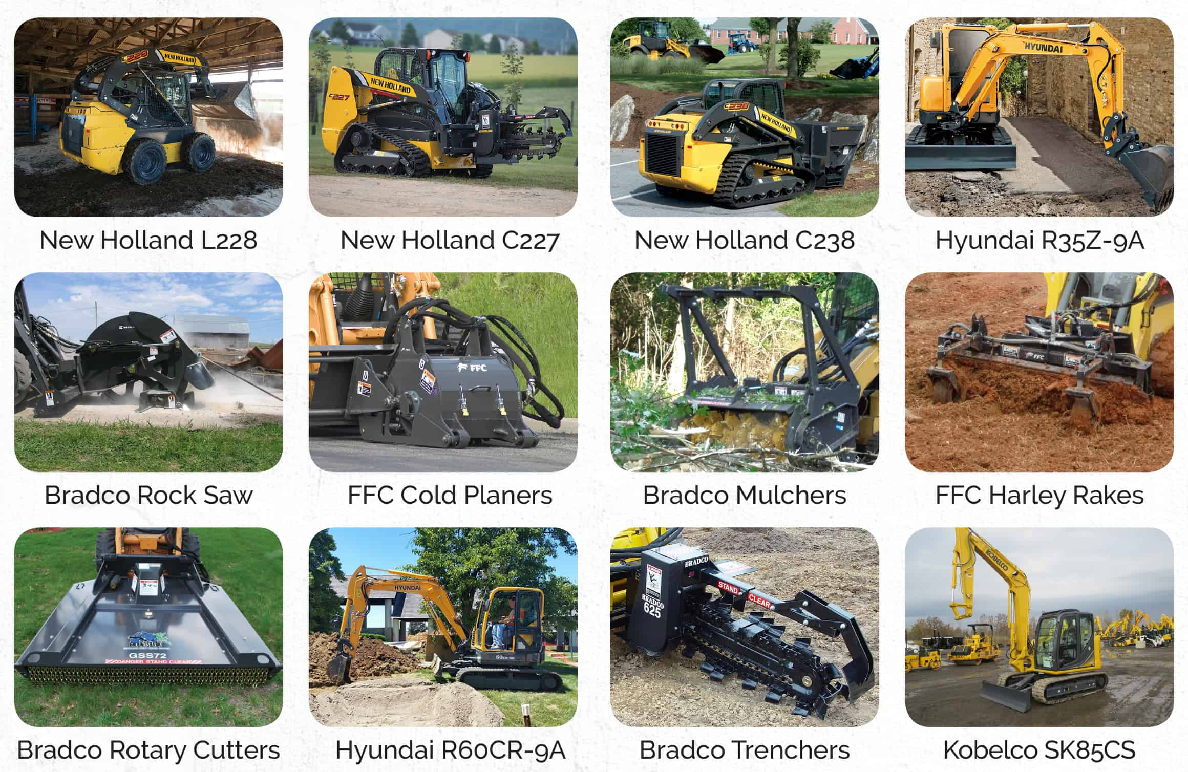 compact rental equipment from tracey road equipment compact equipment for rent ny