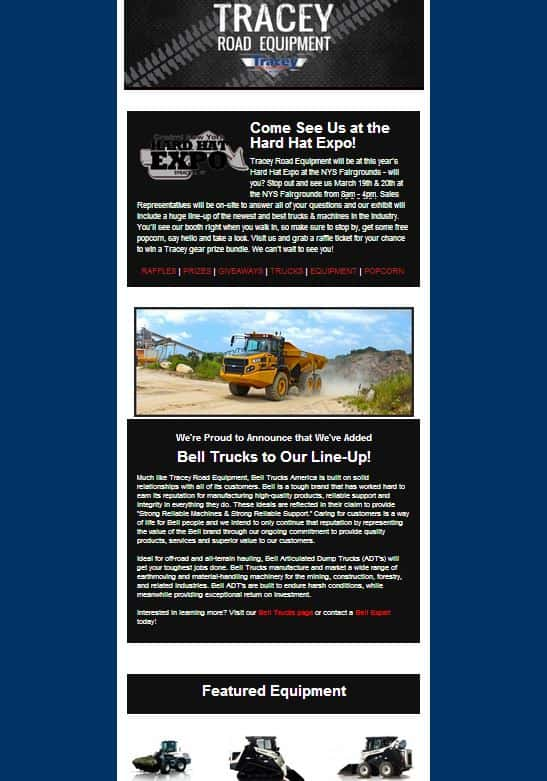 tracey road equipment, tracey road, tracey, e-newsletter, customer newsletter, customer e-newsletter, customer rewards, construction equipment, heavy duty trucks, construction industry, trucking industry, construction equipment dealership, truck dealership, parts, service, rental, equipment rental, construction rental, construction equipment rental
